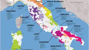 Wine Map Of Italy Poster Vinska Karta Italije Bijele I Crne sorte Preko 300 Vrsta Groa A A