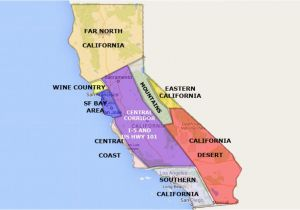 Wine Regions Of California Map Best California State by area and Regions Map