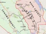 Wine Regions Of California Map Wine Country Map sonoma and Napa Valley
