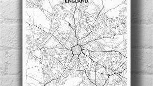 Wolverhampton England Map Wolverhampton City Map Products Wolverhampton Map Personalized
