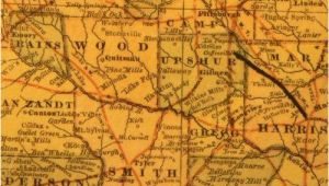 Wood County Texas Map Wood County Tx History towns Courthouse Vintage Maps Hotels