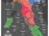 World Map Showing Italy Italy Wine Map Wine Cheese Italienischer Wein Italien Karte