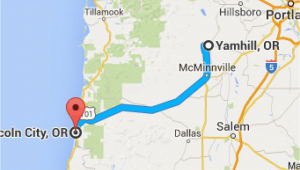 Yamhill oregon Map Map Gresham oregon From Yamhill or to Lincoln City or oregon Wine