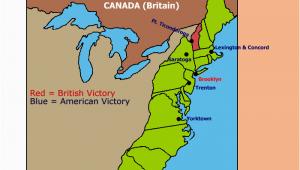 Yorktown Texas Map Major Battles Of the Revolutionary War Map Teaching History